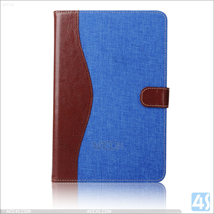 Jean Contrast Color flip case for Apple iPad Mini 4 PU leather cover