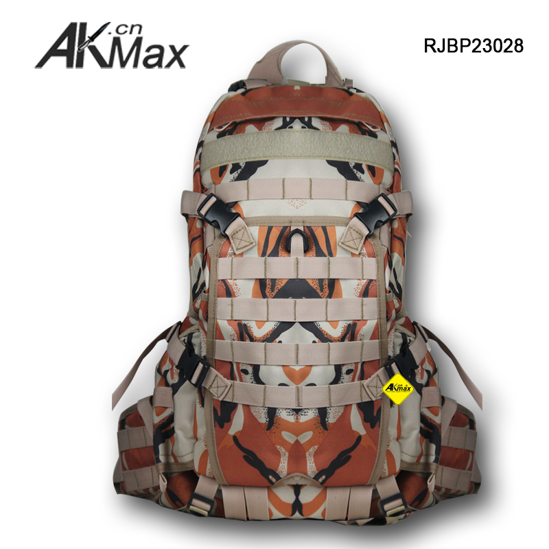 Camouflage 600-denier polyester military backpack tactical