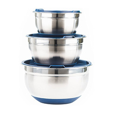 Stainless Steel Salad Bowl Set Mixing Bowl Set with Lids