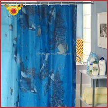 Ocean Pattern Bathroom Indian Silk Curtains