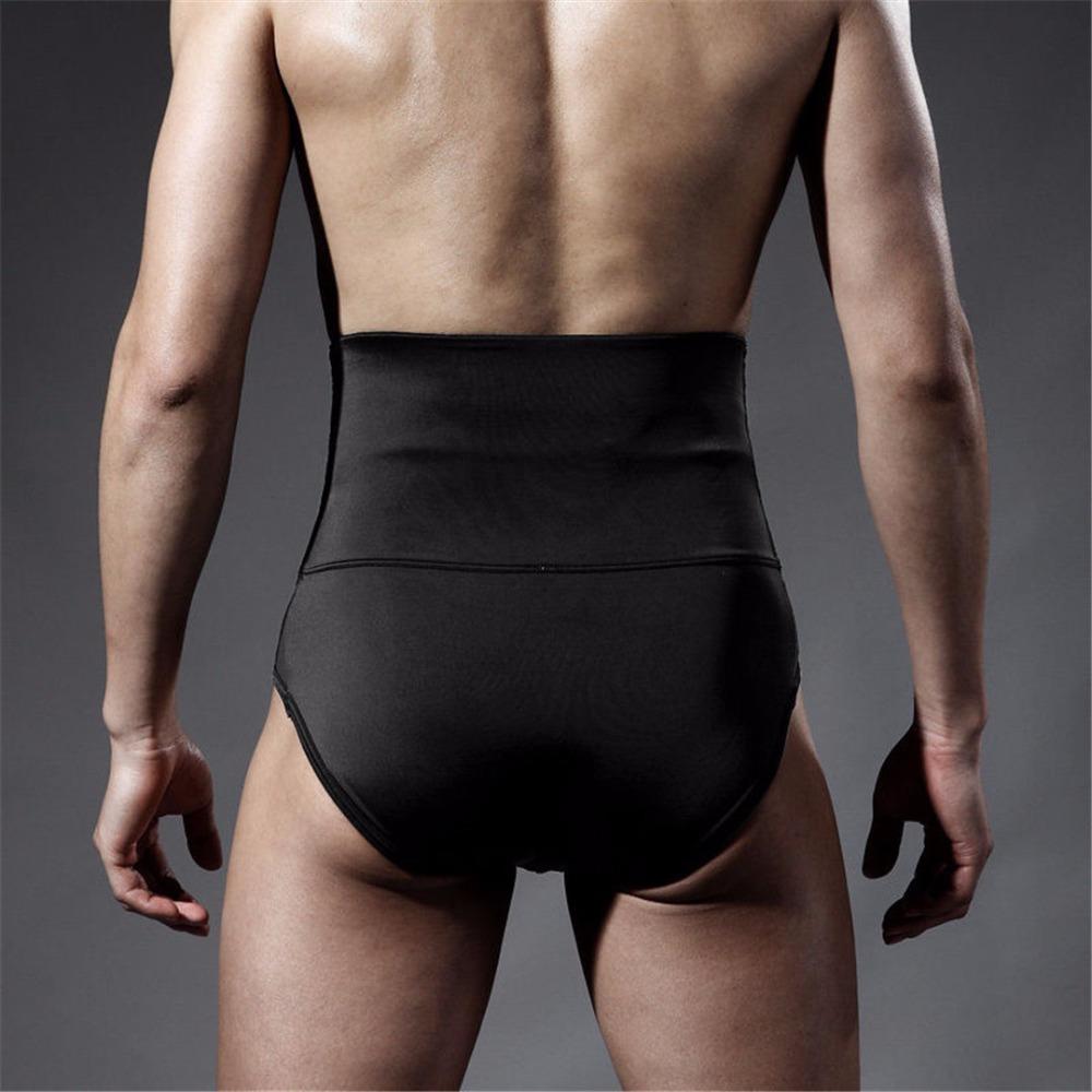 9a33cc0121da1 Plus size men s underwear briefs tummy tucker tummy control bottom high  waist abdomen shaping panties body