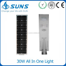 Ce Rohs Ip65 Aluminum Alloy Die Cast Mould Outdoor price list automatic control e27 30w Integrated led Solar Street Light