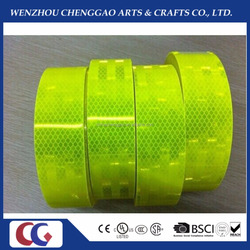 Fluorescent Lime Yellow Green diamond grade traffic safety vehicle reflective tapes