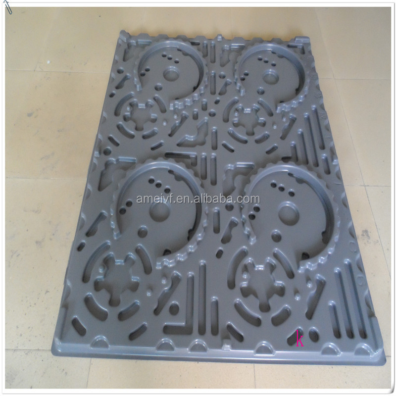 PP/abs anti slip trays vacuum foming flat plastic tray