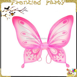 cheap Adorable kids pink butterfly wings for girls