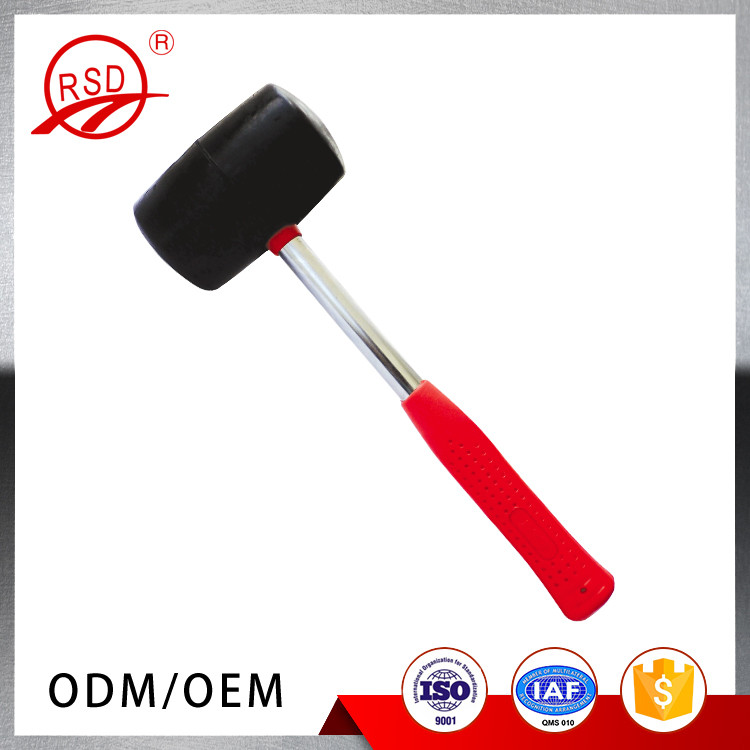 Home Improvement Tool 25mm Dual Head Nylon Rubber Hammer Jewelers Metal Mallet