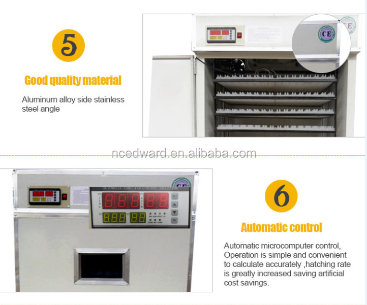 Holding 2816 Eggs Automatic Egg Incubator for hatching Poultry Equipment
