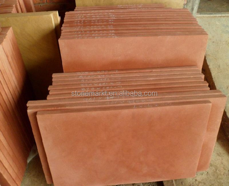 China Red Sandstone Paving Tiles, Floor Covering Tiles
