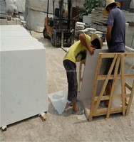 Best quality hot selling snow white reconstituted marble snow flake white marble