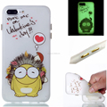 glow in the dark printing TPU with button back cover case for iphone 7