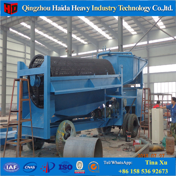 China Supplier Customized Mobile Gold Scrubber Trommel