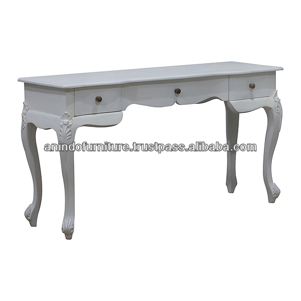 Smiley White Painted Writing Desk