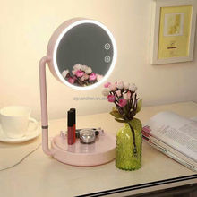 desktop LED Makeup Mirror Multifunctional table lamp Vanity Mirror with Lights 180-degree Free Rotation
