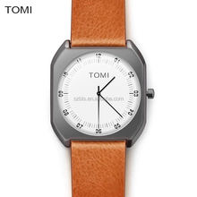 The factory hot sell new design brands TOMI fashion leather strap luxury mens Japanese movement OEM watch wholesale