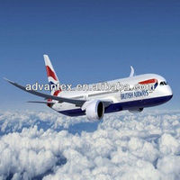 Air transportation to UK from China