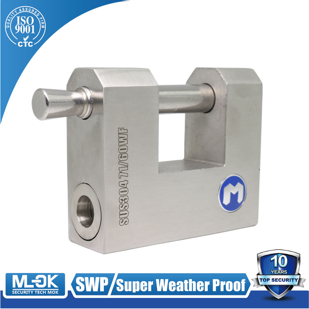 MOK lock W71/60W stainless steel rectangular door jam lock key alike master key