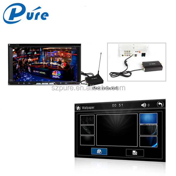 "Universal 6.95"" double din car dvd with gps car stereo audio multimedia system"