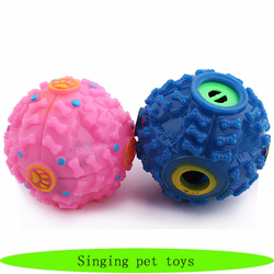 Wholesale soft rubber dog toys, singing pet toys, husky pet toys 2016