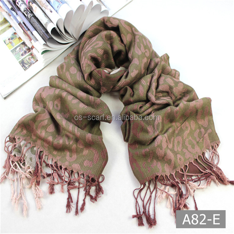 A82 Polyster long hot selling pashmina scarf and shawls for lady