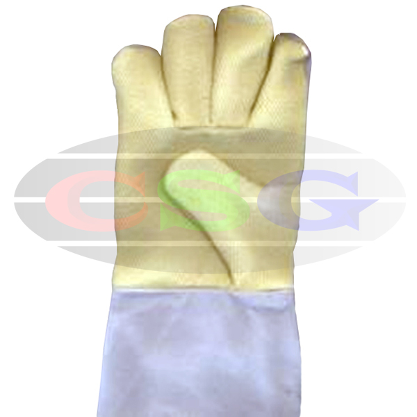 KEVLAR / PARA ARAMID PALM WITH PURE CHROME HAND GLOVES