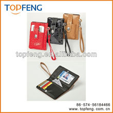 cell phone wallet/leather cell phone case/PU purse