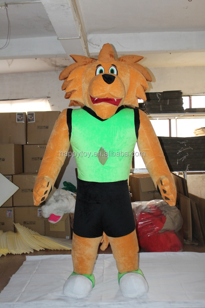 HI animal mascot costume lion mascot costume for adult