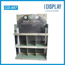 3 Tiers Supermarket Retail Cardboard Pallet Counter Display Stand To Promote Wall Clock