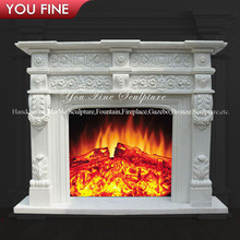 Indoor Classic Modern Italian Marble Fireplaces Mantel