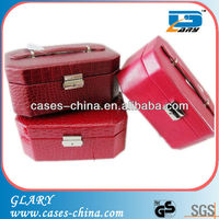 Faux jewelry gift boxes hardware with leather material