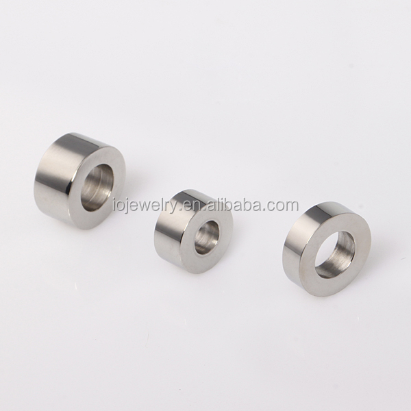 Customized engraving stainless steel beads for jewelry making
