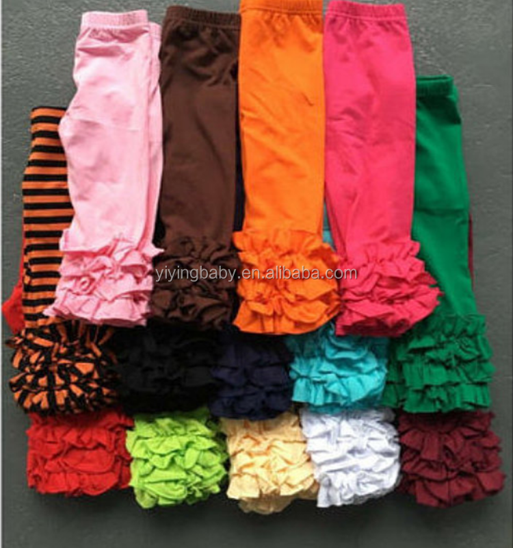 Newest design wholesale baby icing ruffles leggings baby leggings wholesale sew sassy icing legging