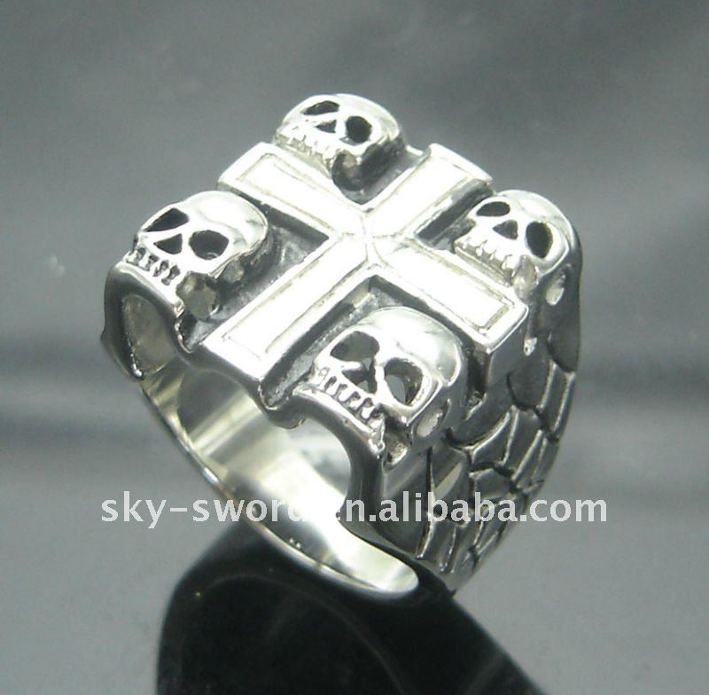 hot sale Fashion Skull jewelry big Stainless Steel Ring For Men