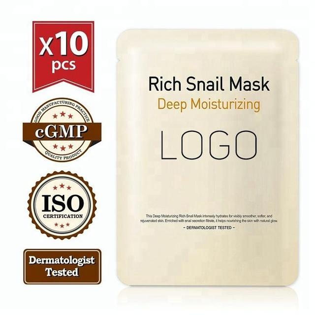 Korea Custom Snail Collagen Silk Organic Face Mask