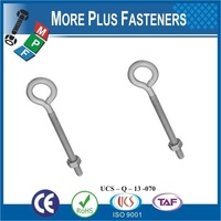 Made in Taiwan Steel Material Silver Color Small Decorative Eye Bolts with Nut