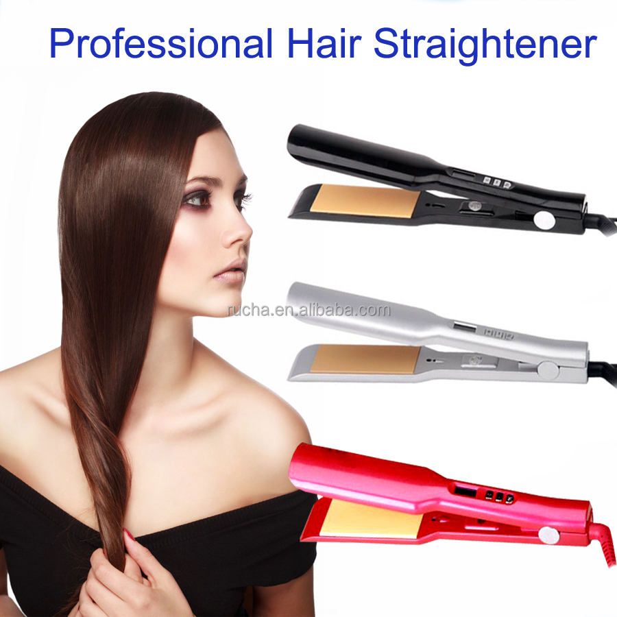 Popular 1.5'' wide plates wholesale barber supplies ceramic & titanium hair flat iron straightener