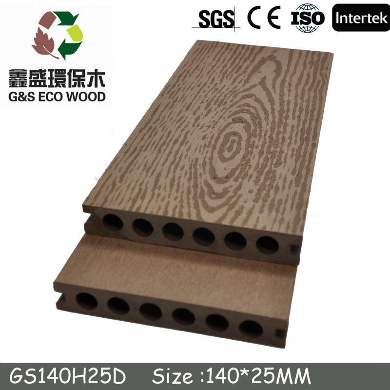 To Spain WPC Similar Co-Extrusion Decking Board with High Quality/WPC decking Manufacturer In China