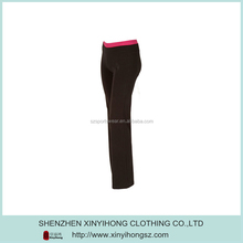 Pink Waist Coffe Color Cotton Lycra Sexy Ladies Sport Tight Pants