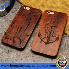 For iPhone 6 wooden back cover with plastic frame,mobile phone cover case