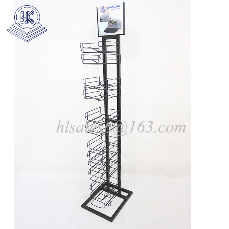 Floor standing metal cap  tower display rack