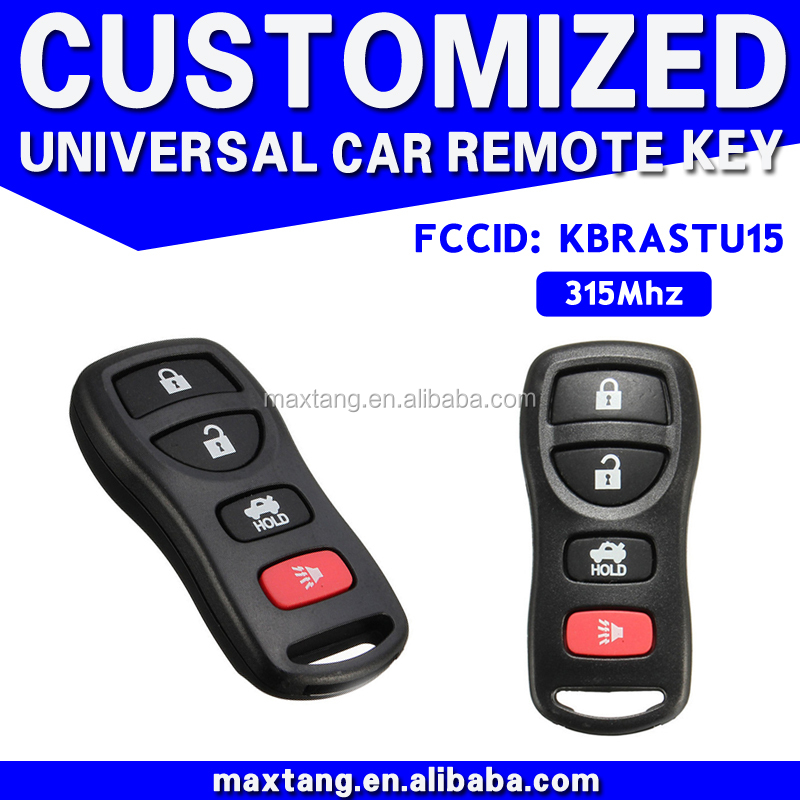 Alibaba Online Car Spare Part Shop 4 Button Car Key Decoder With Chip 315Mhz Car Key Accessory MTF-101824