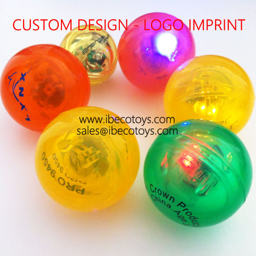 led flashing light bouncing balls 49mm
