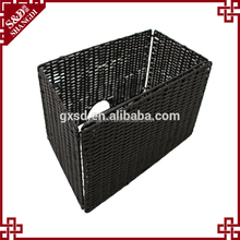 Wholesales washable PE rattan handwoven folding laundry basket used for dirty clothes