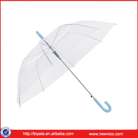 POE Material Clear Dots Print Auto Open Transparent Umbrella