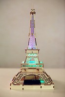 Portable solar light tower led Eiffel Tower 3d model wooden puzzle