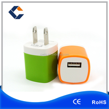 2016 New design and high quality with UL certificate folding US plug 5V 2.1A one port single usb wall charger