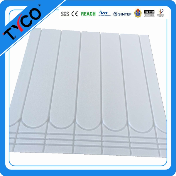 Wholesale Insulated EPS Grooved Under Floor Heating Board For Concrete and Timber Floor