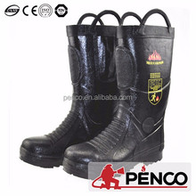 Mens Safety Toe Black Leather 14 inch Power HV Bunker Boot