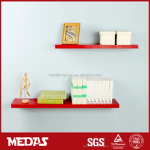 decorative wooden floating wall shelf