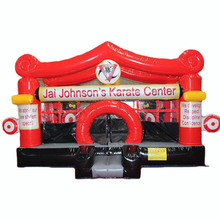 Junior karate inflatable bouncer/ ninja inflatable jumping castle/ bounce house for Martial art taekwondo center