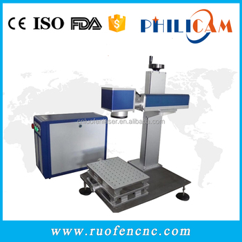 China philicam metal 10w 20w 30w fiber laser marking machine